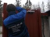 Установка раздвижных ворот с электроприводом